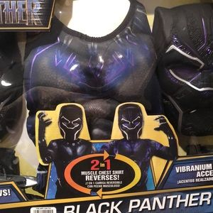 Marvel Costumes - Black Panther 5 piece set 3-4 years old new
